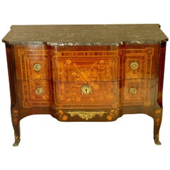 Louis XV Marquetry Commode or Chest