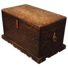 Wooden Storage Hand-Carved Decorative Box
