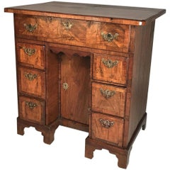 Small Early 18th Century Walnut Kneehole Desk