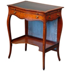 Serpentine Inlaid Writing Dressing Table