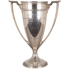 Early 20th Century Large Sterling Silver Cup Trophy, circa 1924