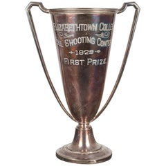 Silver Plated First Place Loving Cup Shooting Trophy, 1929
