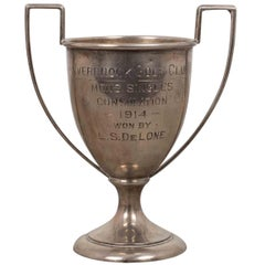 Small Sterling Silver Golf Loving Cup Trophy, 1914