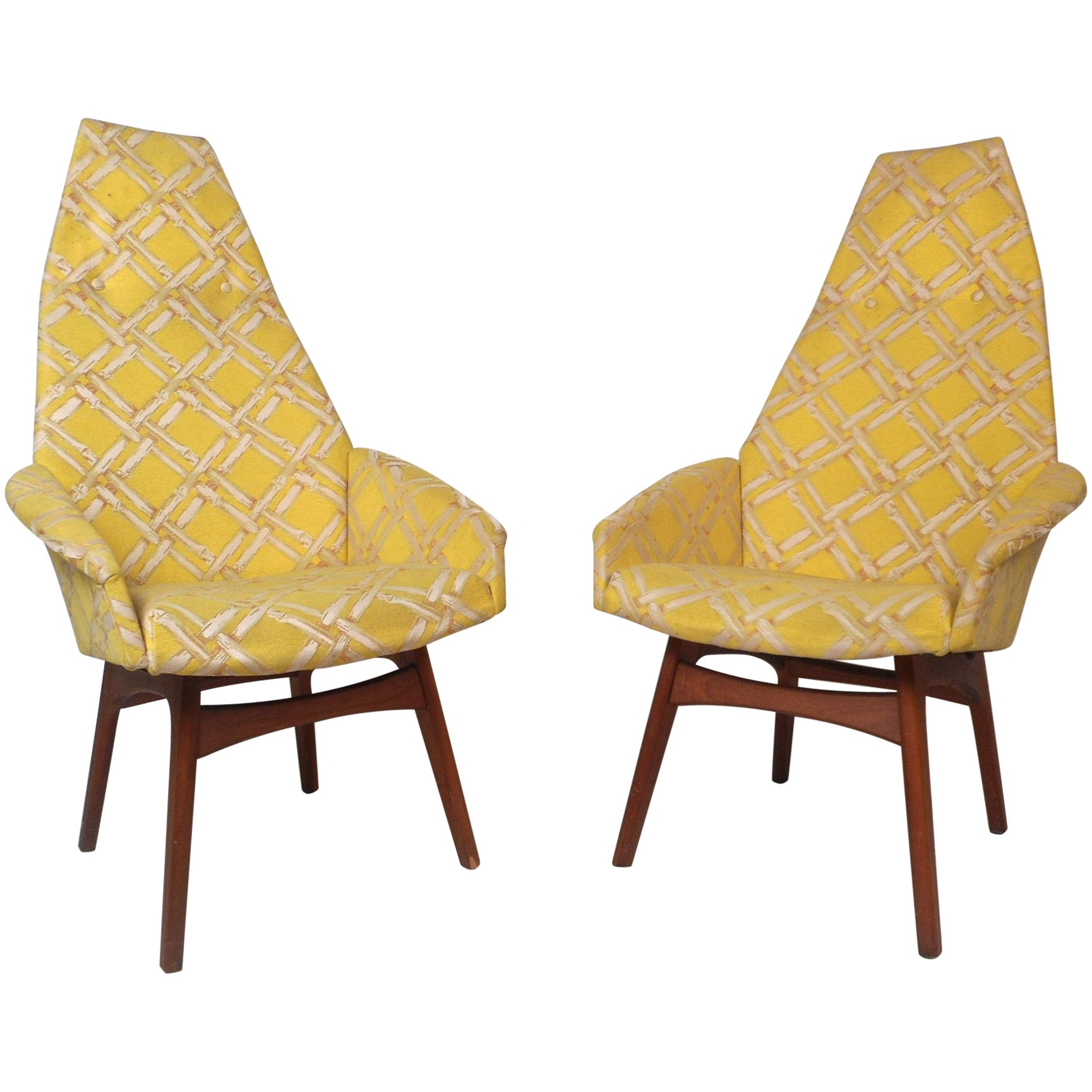Pair of Mid-Century Modern Adrian Pearsall Style Lounge Chairs