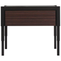 Chicago Side Case Table in Blackened Walnut / Oiled Walnut by May Furniture