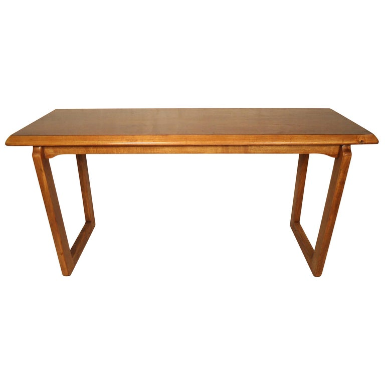 Mid-Century Modern Walnut Console Table
