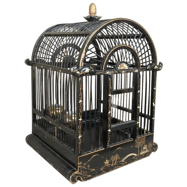 19th Century French Chinoiserie Bird Cage