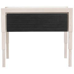 Chicago Side Case Table in Whitewash Maple n Blackened Walnut by May Furniture