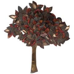 Midcentury C. Jere Style Tree of Life Wall Art