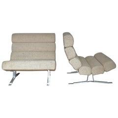 Pair of William Plunkett Midcentury Kingston Chairs