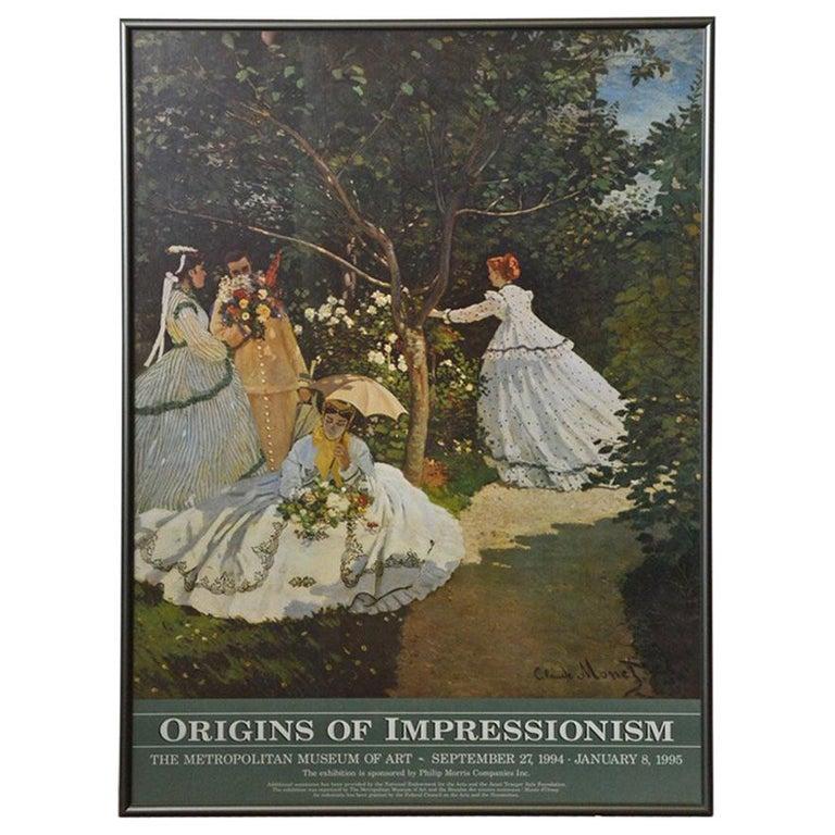 Framed Poster for Impressionist Show at the Met For Sale