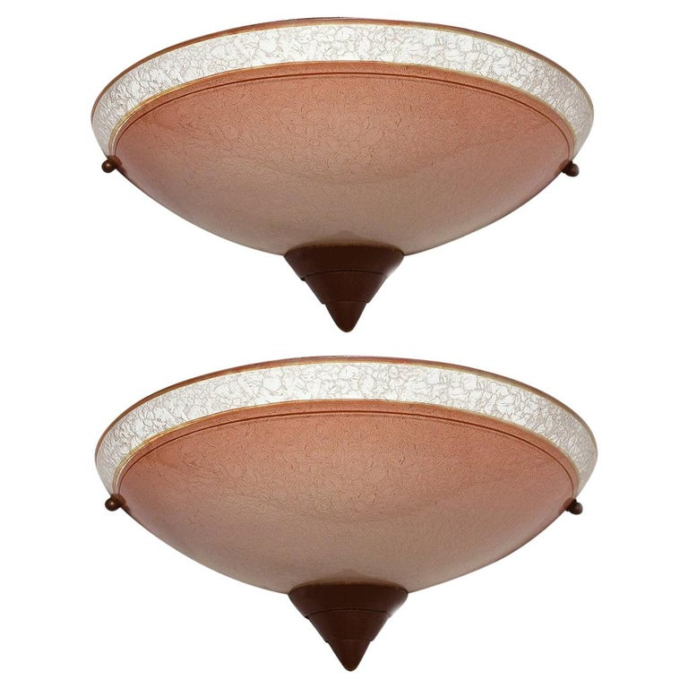 Matching Pair of 1930s Art Deco Wall Light Sconces