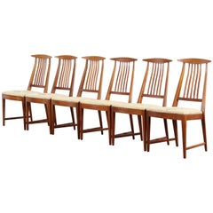 Set of Six Kipp Stewart Dining Chairs for Calvin, 1950s