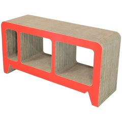 Vintage Corrugated Cardboard Console Table
