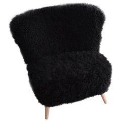 Sheepskin Cocktail Club Chair