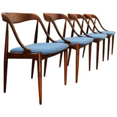 Vintage Johannes Andersen Teak Dining Chairs, Set of Four