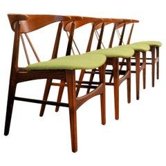 Vintage Danish Design Teak/Oak Dining Chairs, Set of 4