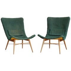 Set of 2 Lounge Chairs by Miroslav Navratil, 1959, Original Condition