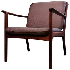 20th Century Teak Wood Armchair Ole Wanscher Pj 112