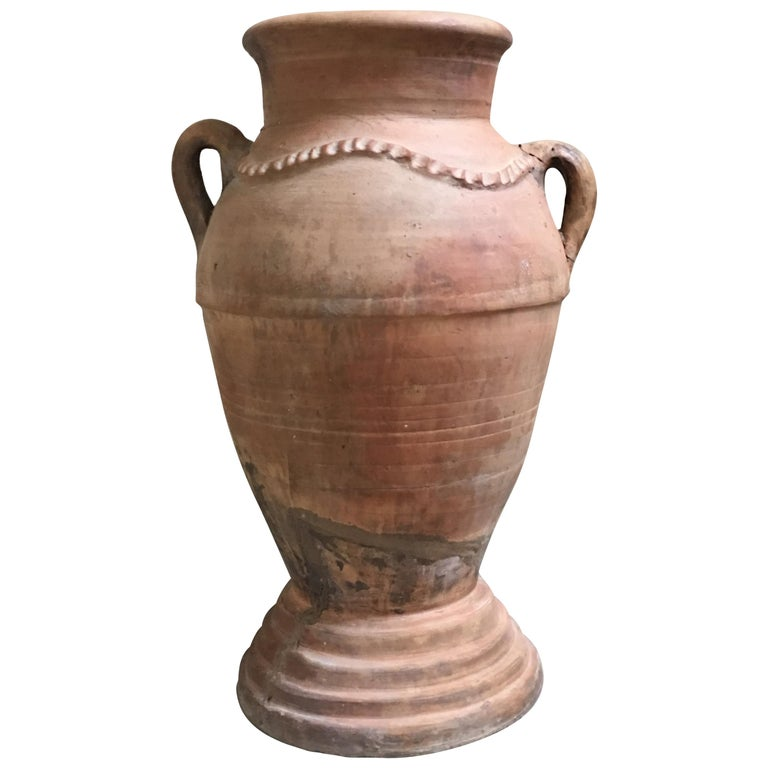 20th Century Handmade Two Handled Vase Spain For Sale At 1stdibs