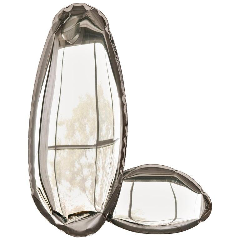 Contemporary Mirror 'Tafla O4' in Stainless Steel by Zieta Prozessdesign 1