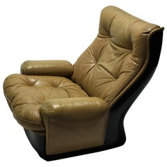 Vintage Leather Lounge Chair by Airborne International, 1970s