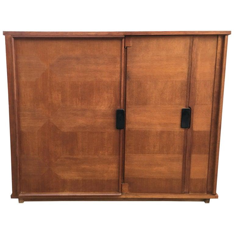 Guillerme et Chambron, 1960 Oak Wardrobe, Votre Maison Edition