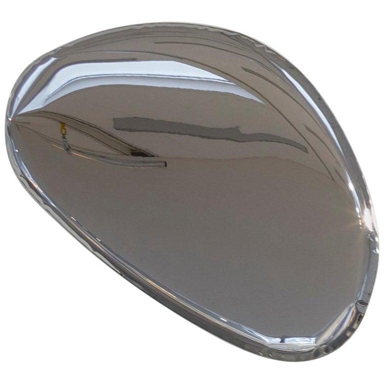 Contemporary Mirror 'Tafla O3' in Stainless Steel by Zieta Prozessdesign