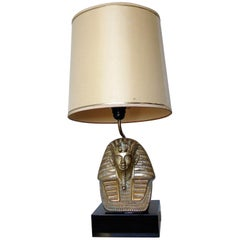 Midcentury Bronze Pharaoh Table Lamp, 1960s