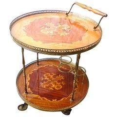 Neoclassical Italian Bar Cart, 1960s
