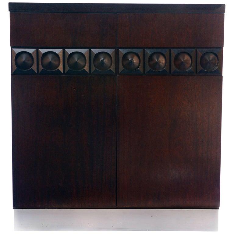Brutalist Bar Cabinet, 1970s