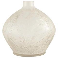 Rene Lalique Vase Plumes