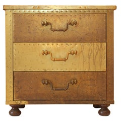 Sarreid Brass Chest with Drawers