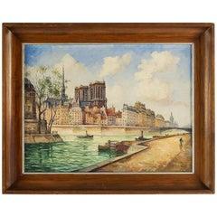 Frank Will, Oil on Canvas, Notre-Dame de Paris, circa 1926