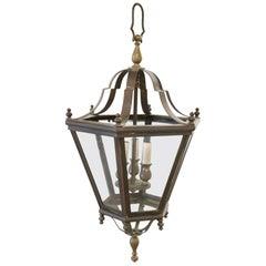 20th Century Italian Brass Lantern Three Lights