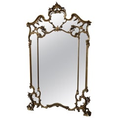 20th Century Italian Baroque Style Carved Gilded Wood Wall Mirror