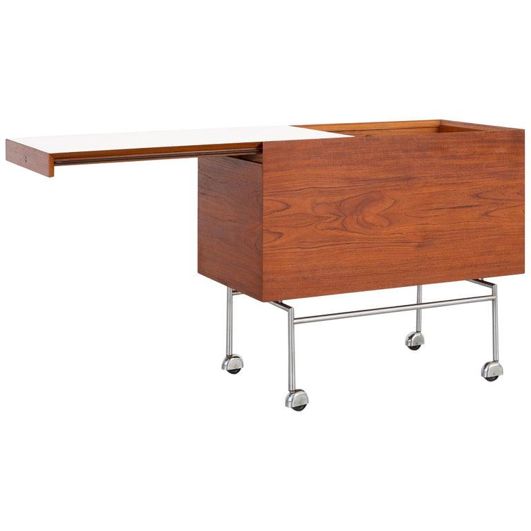 Mid-Century Modern Poul Norreklit Rosewood Bar Cart