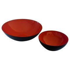 Pair of Vintage Krenit Bowls, Herbert Krenchel