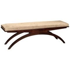 Art Deco French Bench in Walnut