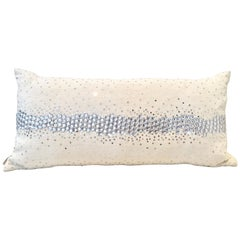 21st Century Linen and Crystal Down Bolster Pillow by, Sivaana