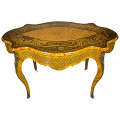 Neo-Baroque, Richly Intarsiated Desk from the Second Half of the 19th Century