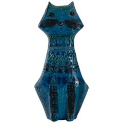Bitossi Aldo Londi Italy circa 1968 Rimini Blue Cat