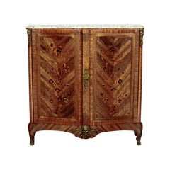French Neo-Baroque Commode with Marble Top from 19th Century