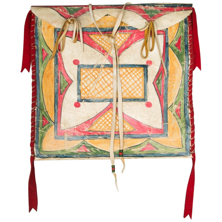 American Indian Parfleche Rawhide Case For Sale