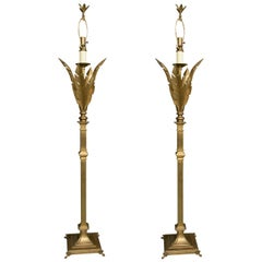 Pair of Brass Floor Lamps