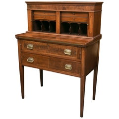American Federal Writing Desk with Tambour Doors