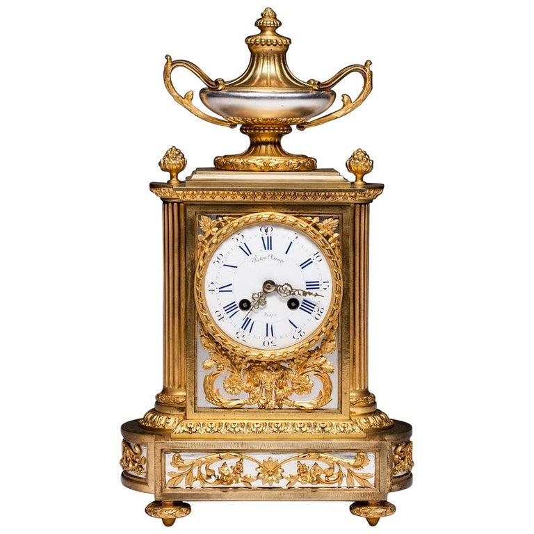 Antique French Mantel Clock by Victor Raingo Paris