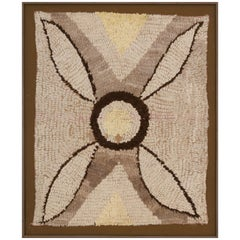 Large Moroccan Tapestry in Shades from Light Beige to Dark Brown