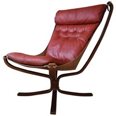 Sigurd Ressel Red Falcon Chair from Vatne Møbler