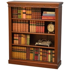 Edwardian Walnut Open Bookcase